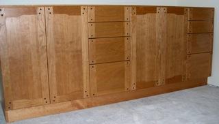 custom cherry cabinet